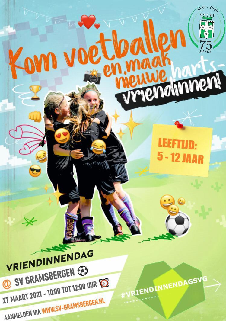 Vriendinnendag SV Gramsbergen zaterdag 27 maart.